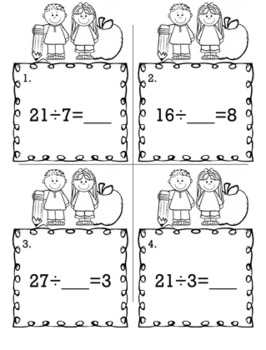 Equations for Multiplication and Division  - Scoot Game/Task Cards