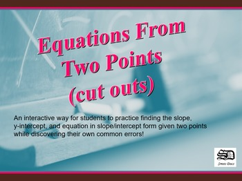 Equations from Two Points (cutouts)