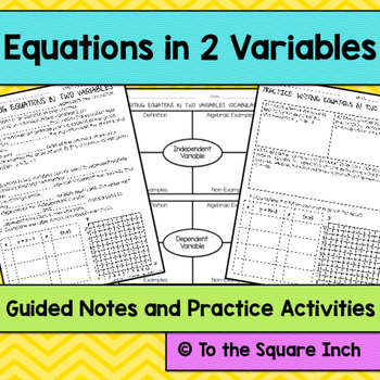 Equations in 2 Variables Notes
