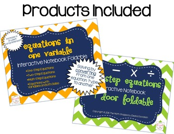 Equations in One Variable Interactive Notebook BUNDLE