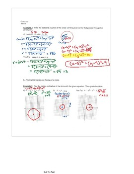 Equations of Circles Fornite Activity Answer Key