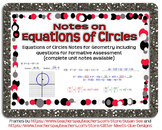 Equations of Circles Guided Notes for Geometry