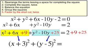 Equations of Circles, 3 Intro Lessons + 11 Assignments for