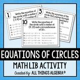 Equations of Circles Math Lib