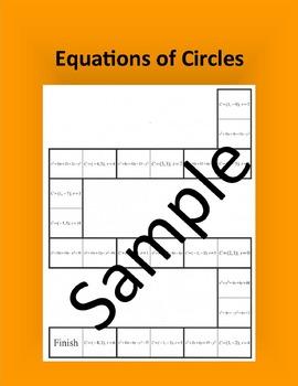 Equations of Circles – Math puzzle