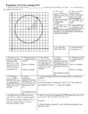 Equations of Circles Spring 2014 with Answer Key (Editable)