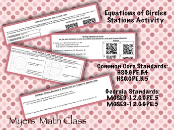 Equations of Circles - Stations Activity