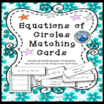 Equations of Circles given Center and Radius  Matching Card Set