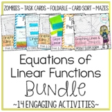 Equations of Linear Functions Activity Bundle