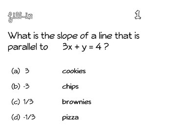 Equations of Lines Fill-In