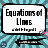 Equations of Lines - Which is Largest?