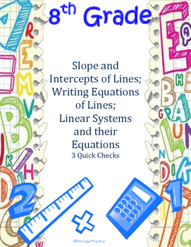 Equations of Lines and Systems of Linear Equations Quick Checks