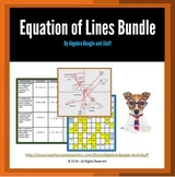 Equations of Lines with Slope and Graphing Bundle