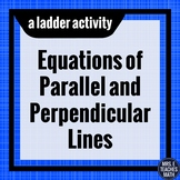 Equations of Parallel and Perpendicular Lines Ladder Activity