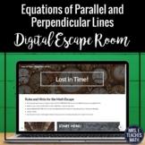 Equations of Parallel & Perpendicular Lines Digital Escape Room