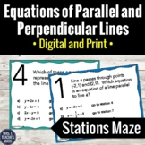 Equations of Parallel and Perpendicular Lines Activity   Digital and Print
