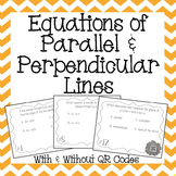 Equations of Parallel and Perpendicular Lines Task Cards