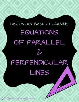 Equations of Parallel and Perpendicular Lines through Discovery!