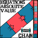 Equations with Absolute Value Star Paper Chain for Display