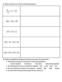 Equations with Balances