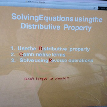 Equations with Distributive Property