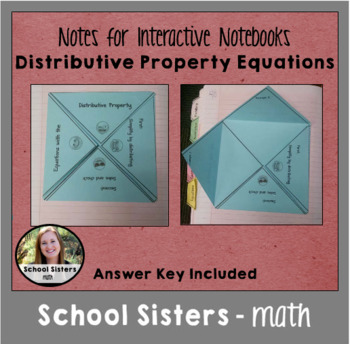Equations with Distributive Property for Interactive Notebooks