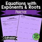 Equations with Exponents and Roots
