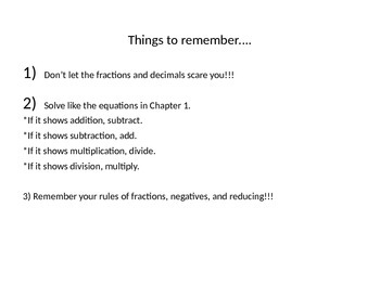 Equations with Fractions and Decimals