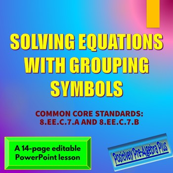 Grouping Symbols Teaching Resources Teachers Pay Teachers
