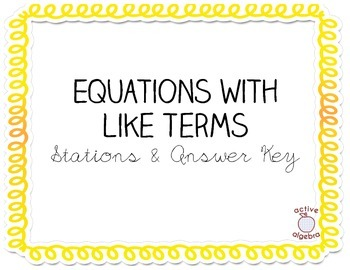 Equations with Like Terms