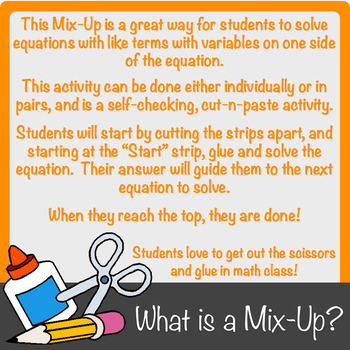 Equations with Like Terms Mix-Up!