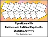 Equations with Radicals and Rational Exponents Stations Activity