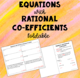 Equations with Rational Coefficients Foldable