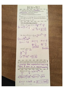 Equations with Rational Exponents
