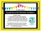 Equations with Rational Numbers Problem Maze