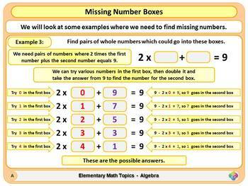 Equations with Two Unknowns for Elementary School Math Powerpoint