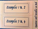 Equations with Variables on Both Sides Foldable