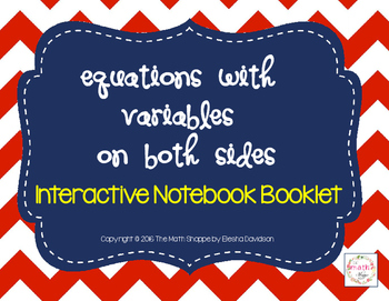 Equations with Variables on Both Sides INB Booklet