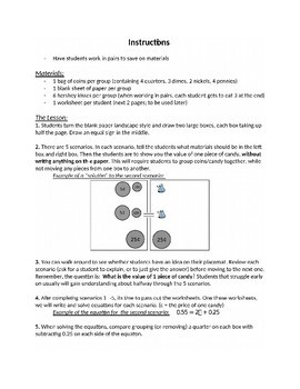Equations with Variables on Both Sides: Intro Activity w/Candy