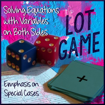 Equations with Variables on Both Sides Lot Game