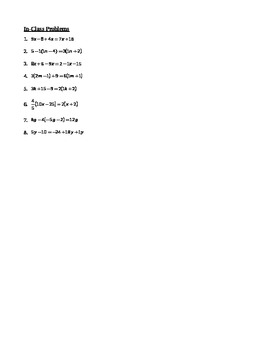 Equations with Variables on Both Sides Notes