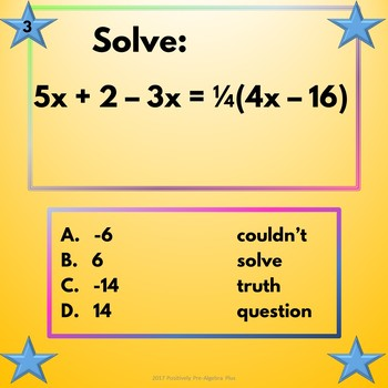 Equations with Variables on Both Sides Walk-About