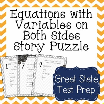 Equations with Variables on Both Sides Word Problems -  Wo