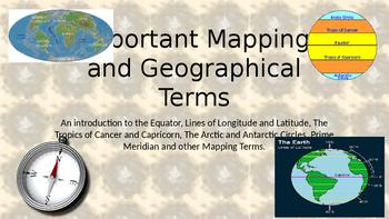 Equator, Latitude, Longitude, Tropics of Capricorn and Can