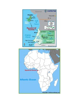 Equatorial Guinea Map Scavenger Hunt
