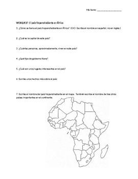 Equatorial Guinea: webquest & mini-lesson for Spanish learners