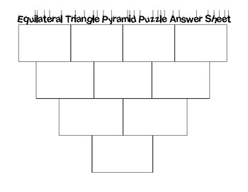 Equilateral Triangle Area Pyramid Puzzle