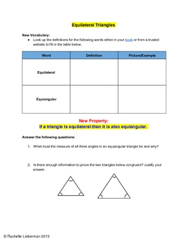 Equilateral Triangles Investigation