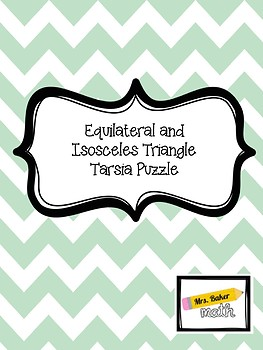 Equilateral and Isosceles Triangle Tarsia Puzzle