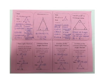 Equilateral and Isosceles Triangles Foldable